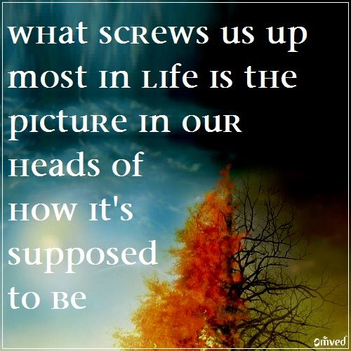 """""""What Screws us up Most in Life is the Picture in our Head ..."""