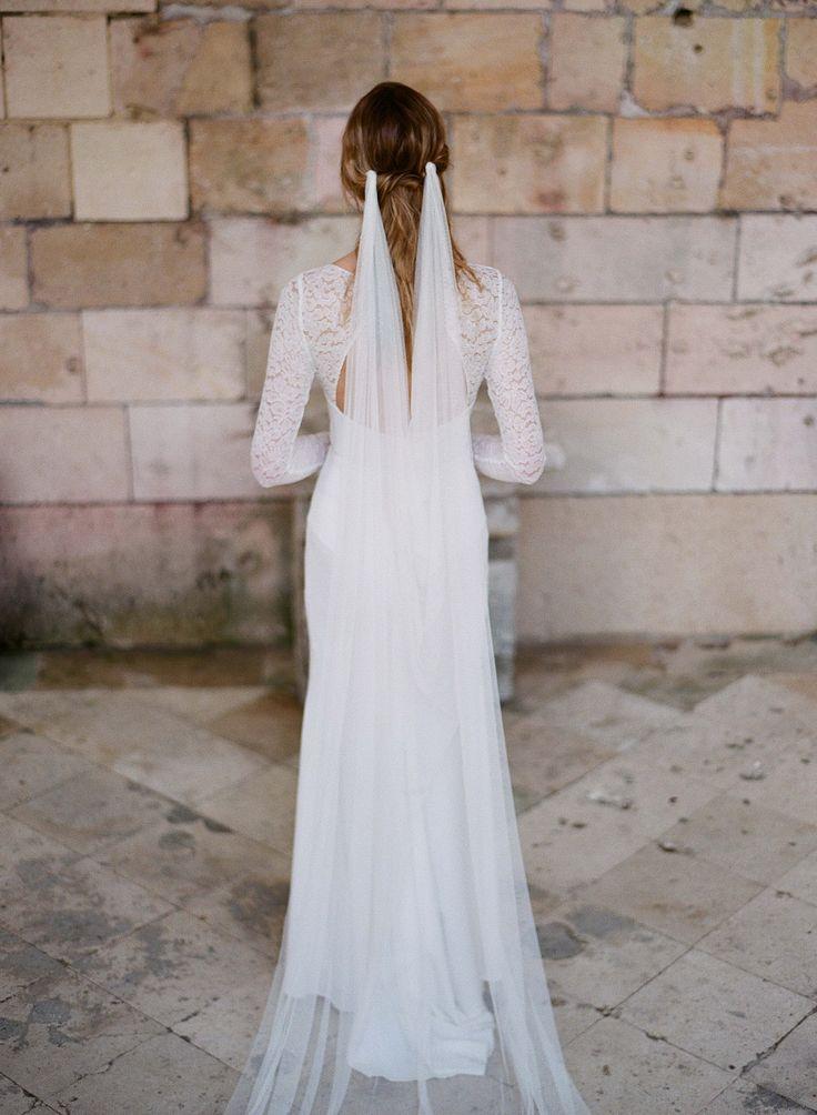 Elegant veil / bridal veil / bohemian wedding veil @orchideedesoie www.orchideedesoie.com