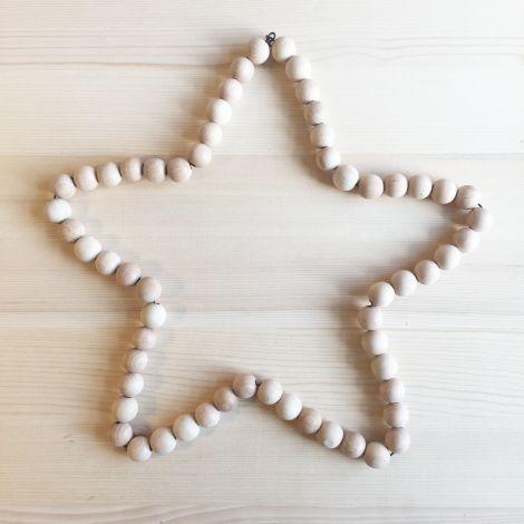 DIY étoile en perles de bois - wood beads star - www.pierrepapierciseaux.be