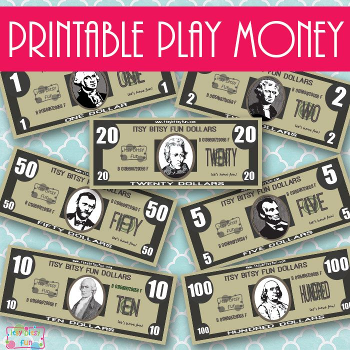 Realistic Play Money