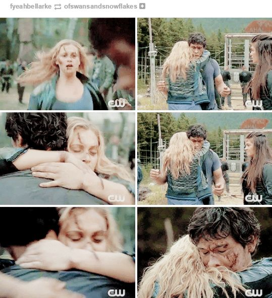 BEST. HUG. EVER. #The100 #Bellarke <3