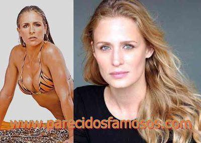 Parecidos con famosos: Brasileña Joana Machado con Samantha Smith
