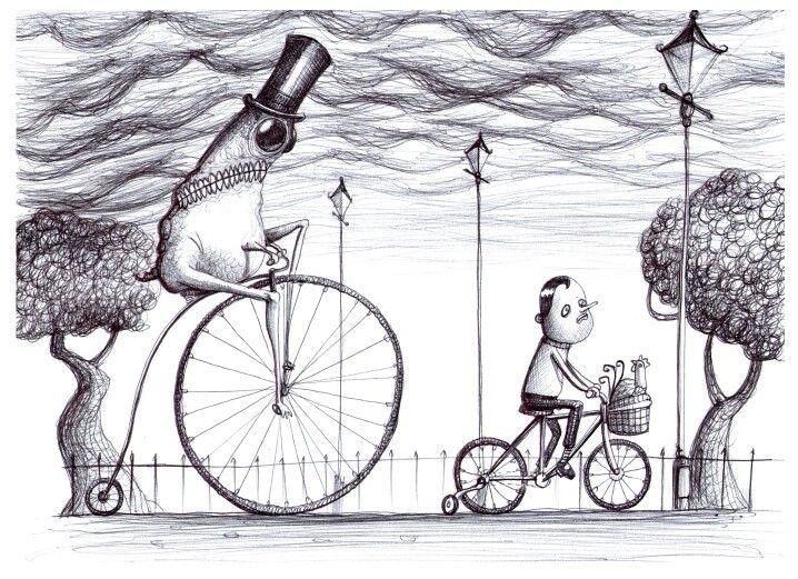 'The Bike Ride'. Illustration by Chris Harrendence