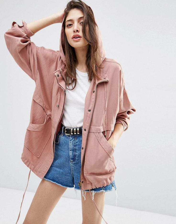 Image 3 of ASOS Washed Cotton Summer Jacket