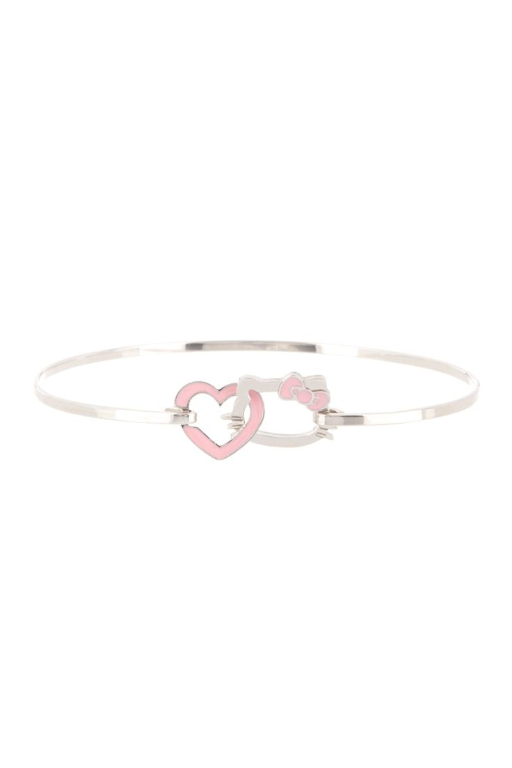 Sterling silver pink enamel accented Hello Kitty.. i dont like hello kitty things but this is cute