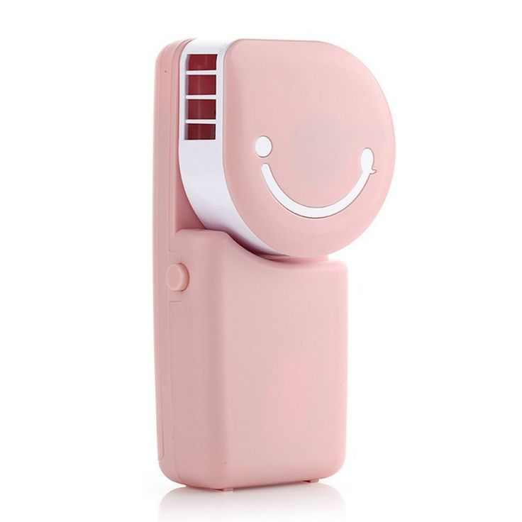 Tofern Cool Compact Air Conditioner Shape USB Rechargeable Battery Operated  Cooling Handy Mini Fan For Office Home Travel Outdoor, Pink