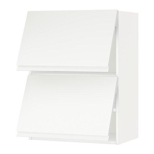 METOD Bovenkast horizontaal met 2 deuren, wit, Voxtorp wit wit Voxtorp wit 60x80 cm