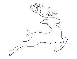 Flying Reindeer Pattern