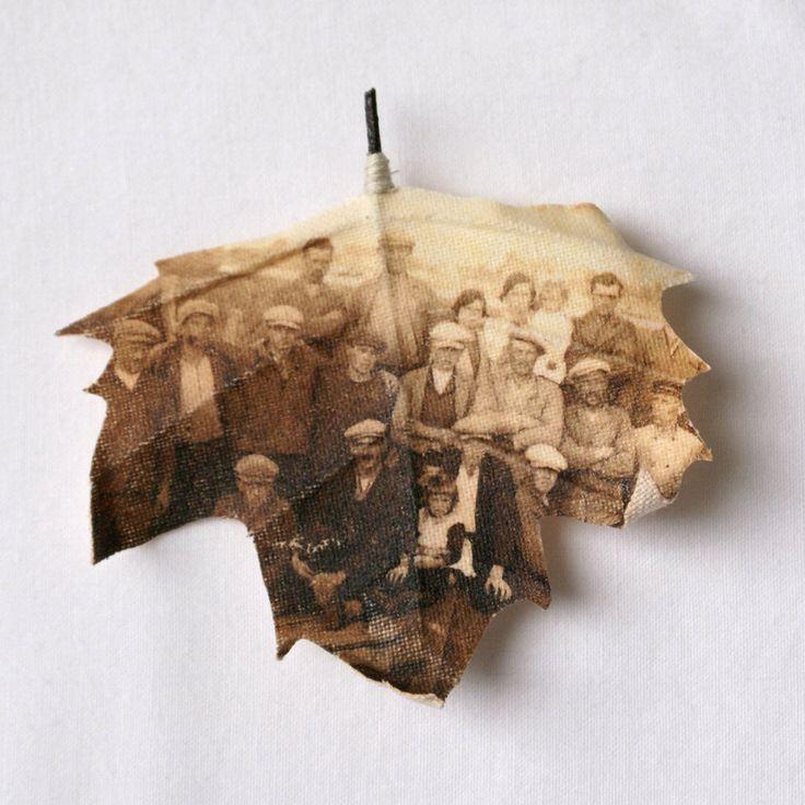 Family Photo Leaf idea
