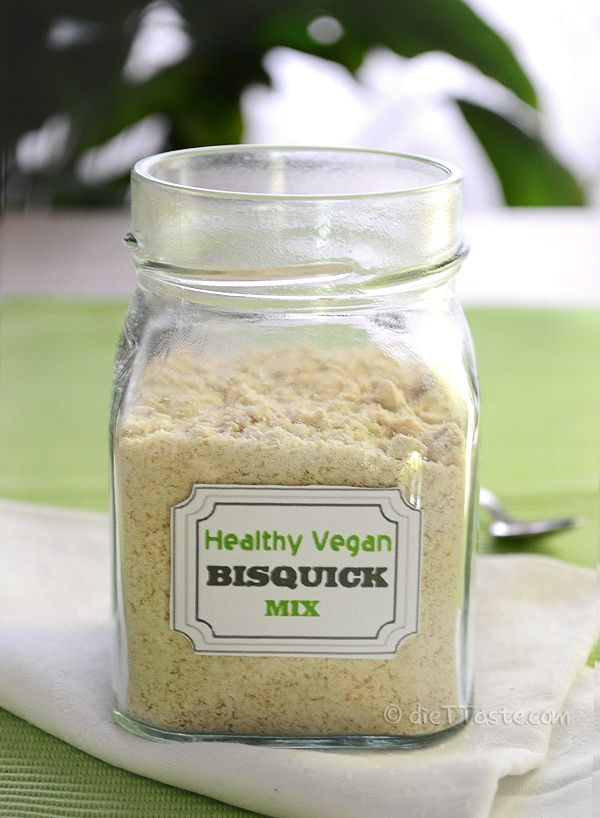 Healthy Vegan Bisquick Mix - fantastic alternative to the store bought baking product - use it for everything - from pancakes, waffles, to sausage balls, dumplings, pot pie or coffee cake - diettaste.com