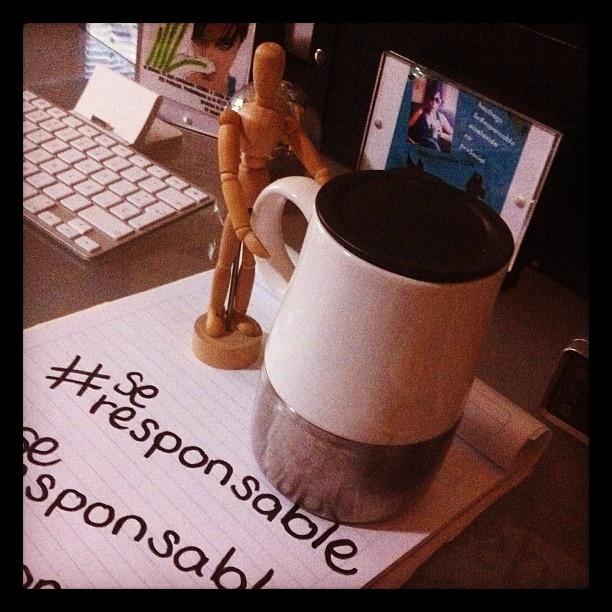 Evita los desechables al tomar café. Rellena tu termo! - @salaslety | http://www.seresponsable.com/leticiasalas/