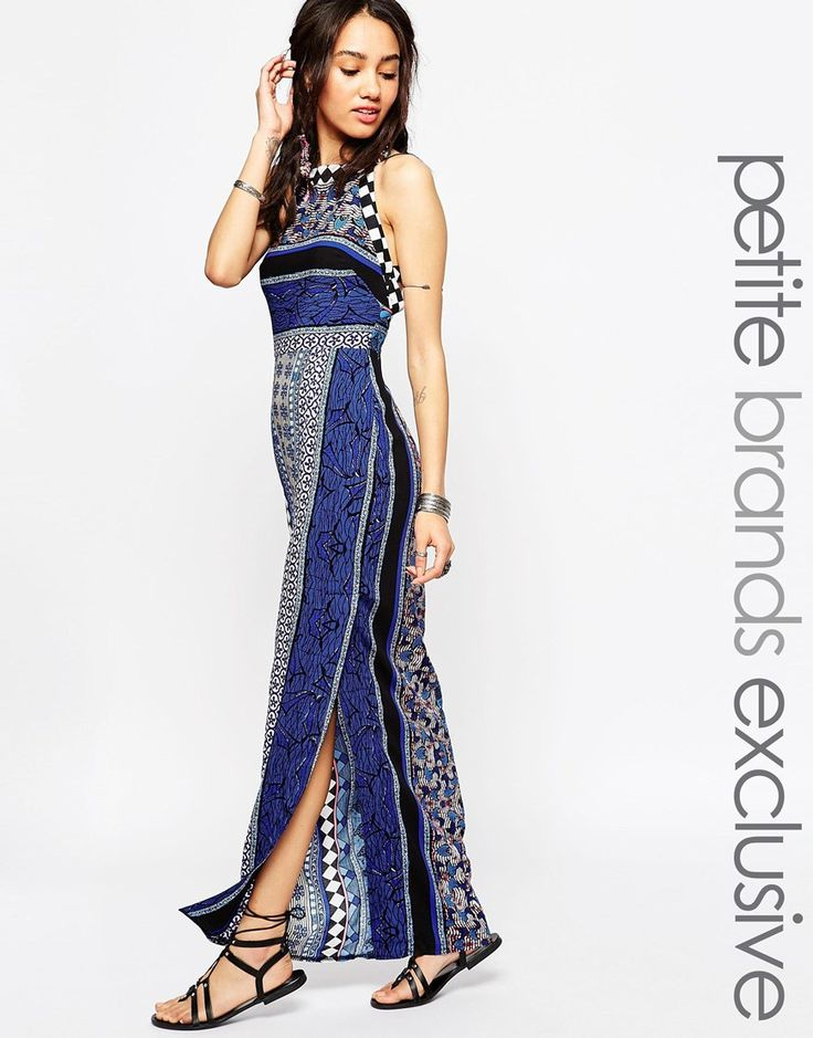 Image 1 ofTiger Mist Petite Tapestry Print Maxi Dress