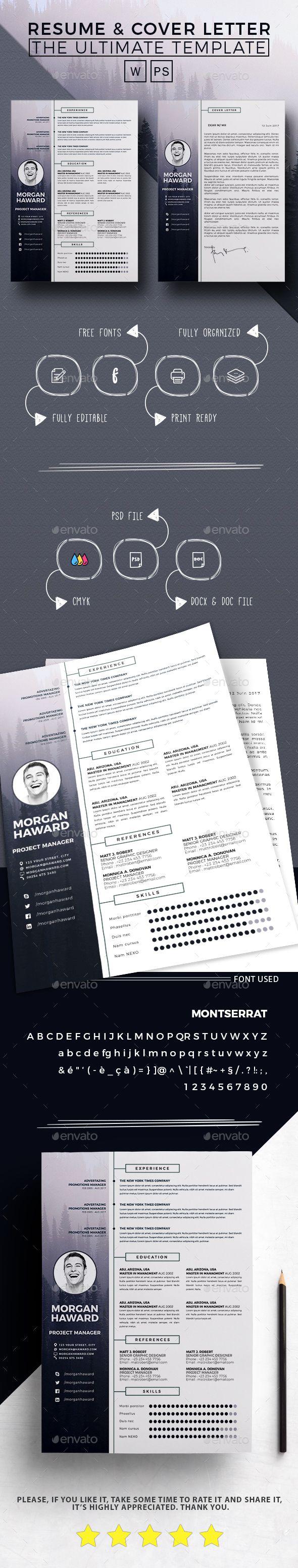 Resume  Morgan  #resume design #skills  • Download here → https://graphicriver.net/item/resume-morgan-/20858475?ref=pxcr