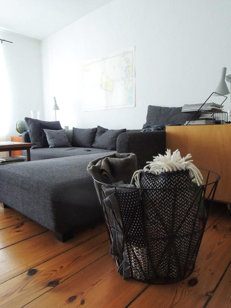 wire basket large by ferm living l i v i n g r o o m. Black Bedroom Furniture Sets. Home Design Ideas