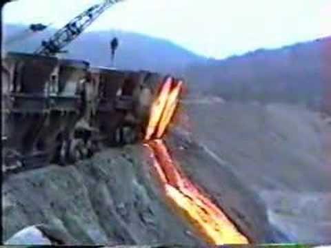 Dumping slag at Bethlehem Steel in 1994 - dad took me to the same at Birmingham steel..........