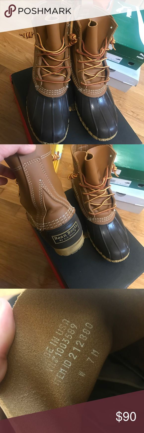 Ll bean duck boots Ll bean duck boots in brown. Only worn twice so they're in excellent condition, looking to sell L.L. Bean Shoes Winter & Rain Boots