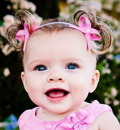 Little fake ponytails attached to a baby headband. To Cute! - 32 Best Little Girls In Pigtails ♡ Images On Pinterest