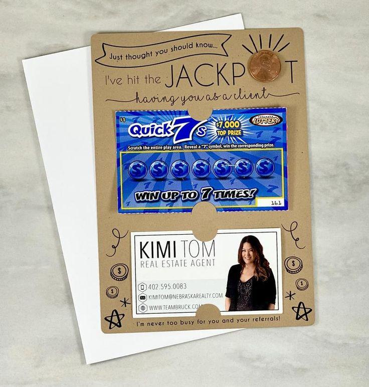 I've Hit the Jackpot Mailer w/ Envelope Lotto Ticket Pop