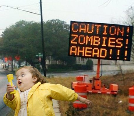 Image result for running from zombie meme
