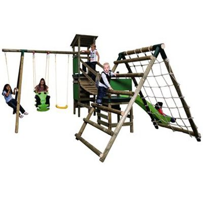 Little Tikes Marlow Climb n Slide Swing Set - The Incredible Wood Playground Set For Kids