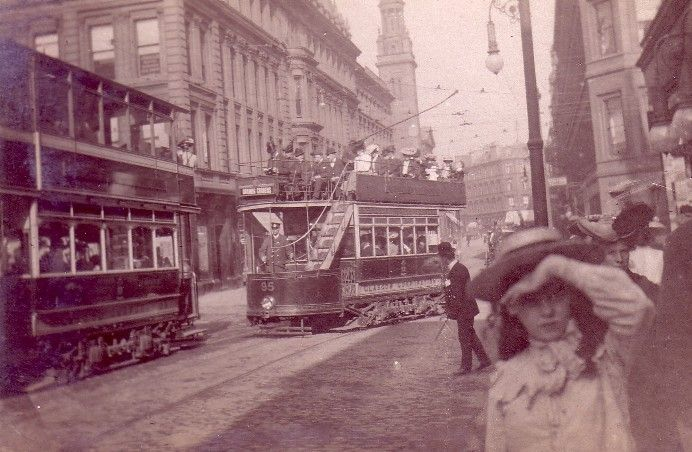 Sauchiehall street Glasgow 1901