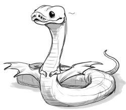 art Sketch doodle snake noodle Ball python
