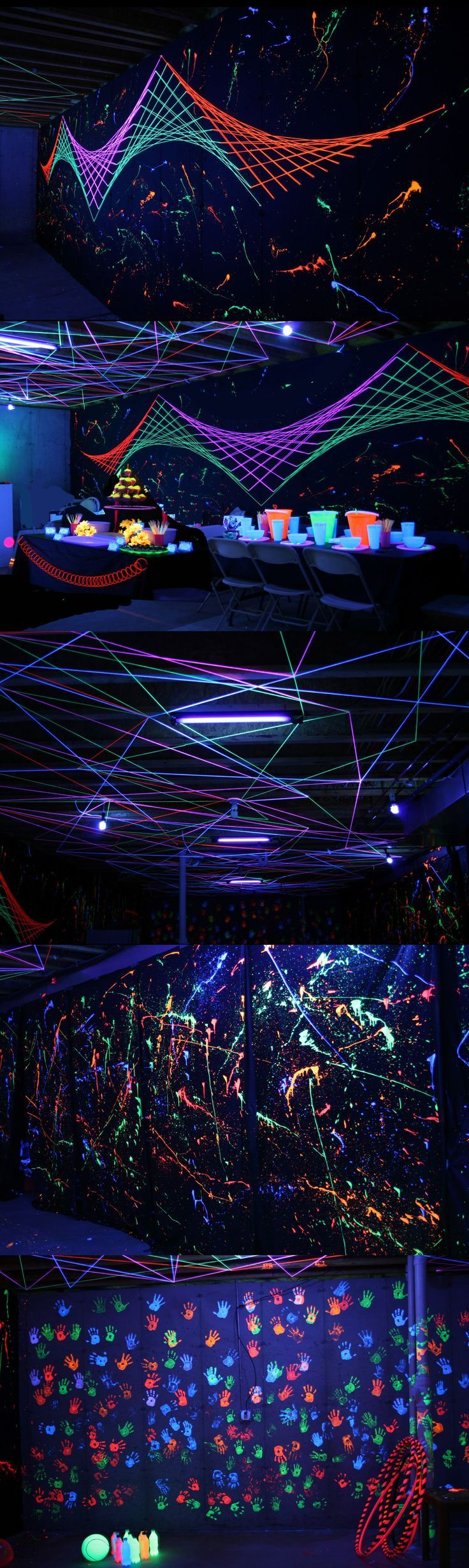 Crazy-cool black light Halloween party