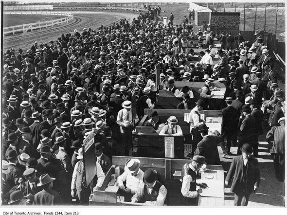 Dufferin racetrack, 1910. Then,was transformed into Dufferin Plaza around 1958, then, grew into Dufferin Mall