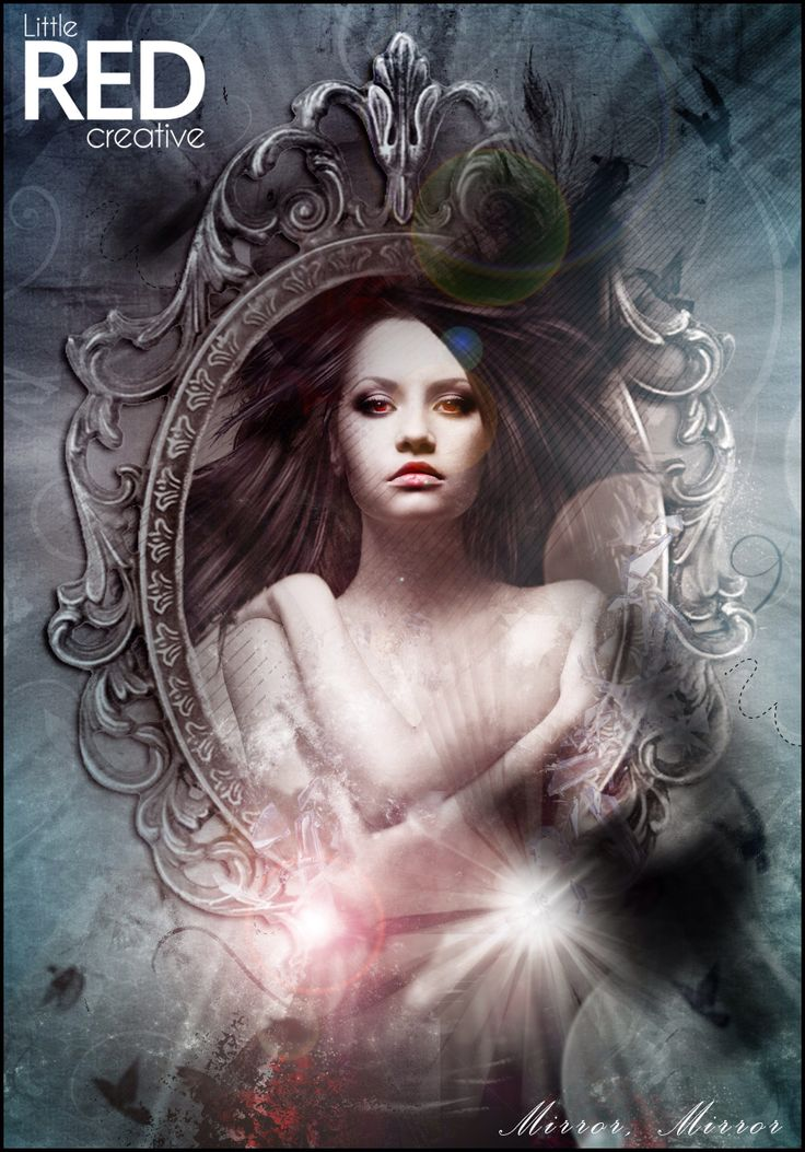 Latest artwork #photoshop #digitalart #fairytale #mirror