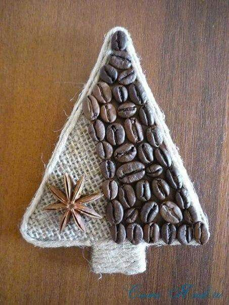 DIY coffee bean tree