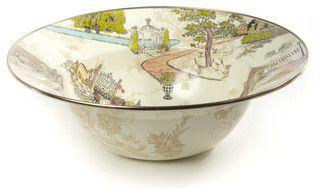 Aurora Enamel Serving Bowl | MacKenzie-Childs - Eclectic - Serving Bowls - other metro - by MacKenzie-Childs