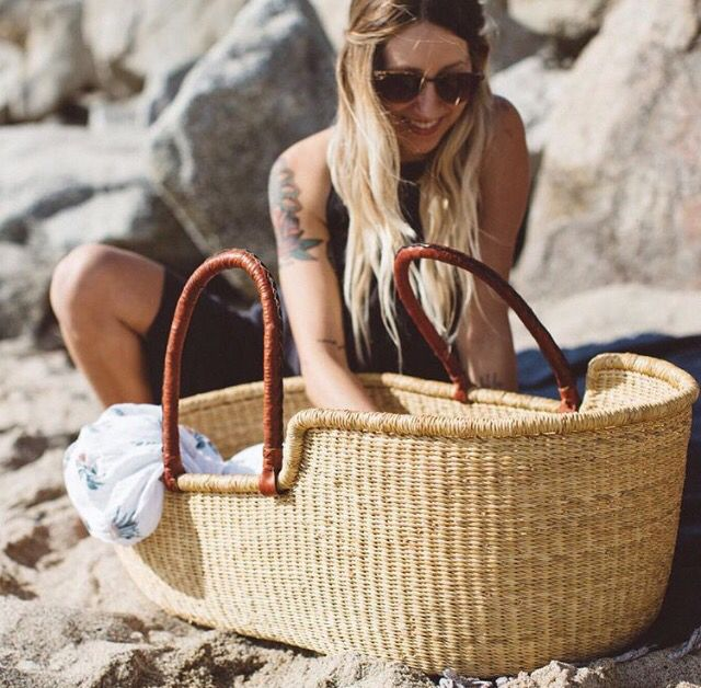 Plum + Sparrow Moses Baske // tmoses basket #mosesbaskets #handmade #newborn…