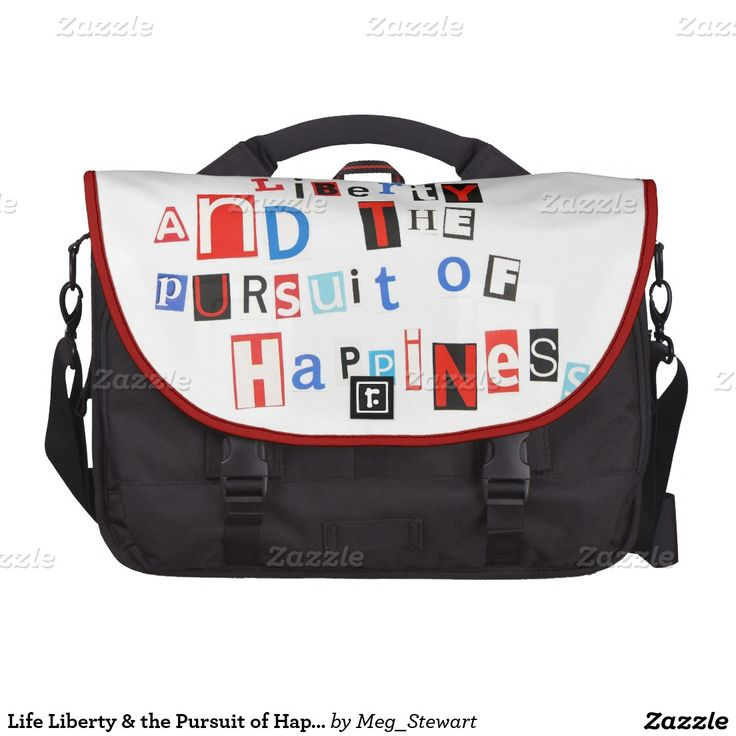 Life Liberty & the Pursuit of Happiness Laptop Bags