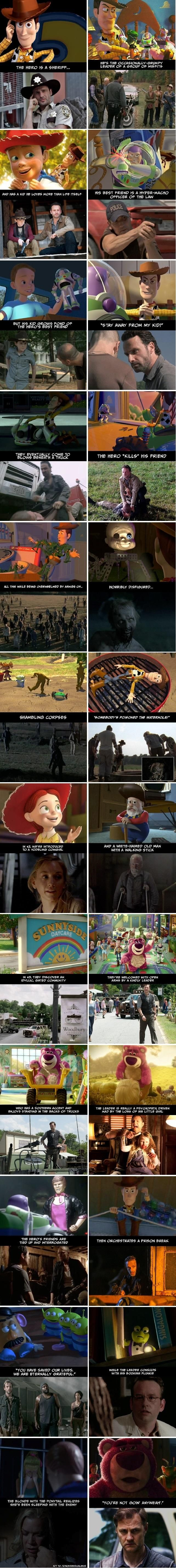 """Undeniable Proof That """"The Walking Dead"""" And """"Toy Story"""" Have The Exact Same Plot - qm stories & news."""