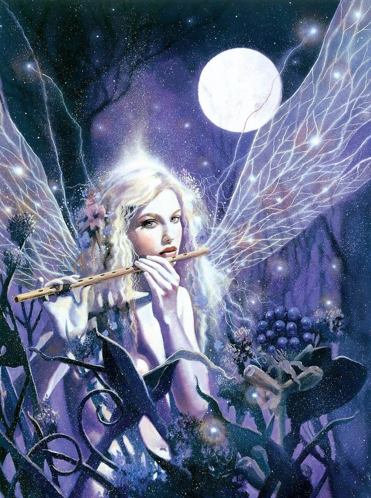 fairy in the moonlight by David de la Mare