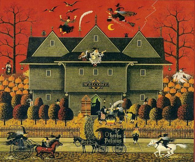 Halloween ilustrado por Charles Wysocki