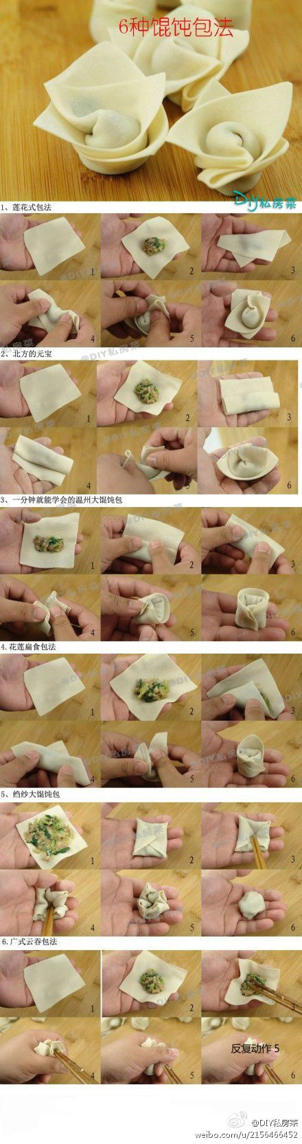 how to wonton wrap many different ways