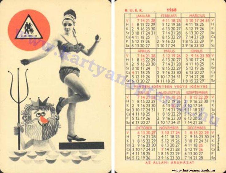 1968 - 1968_0224 - Régi magyar kártyanaptárak