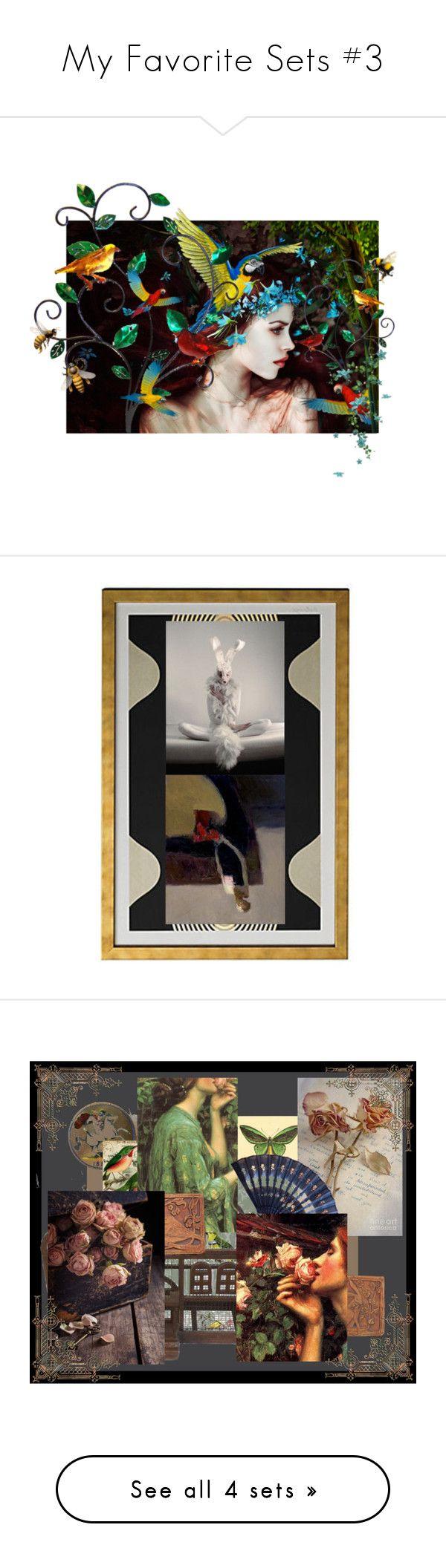 """My Favorite Sets #3"" by chilirose-creative ❤ liked on Polyvore featuring art, artset, artexpression, etsyflashmob, artflashmob27, bunnywoman, vintage, JohnWilliamWaterhouse, etsyevolution and muskrosevintage"