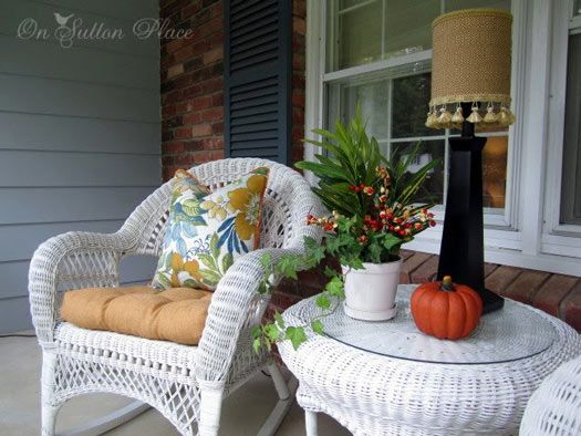 decorating with wicker furniture. Decorating For Autumn - Ideas Your Porch From Sutton Place With Wicker Furniture T