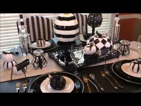 $5 Dollar Tree Upcycle Challenge: A Non-traditional Fall Tablescape - YouTube