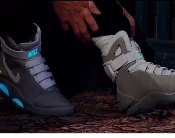 finest selection 8b049 7bb82 exactly fit nike air mag aka marty mcfly black newest  michael j. fox shows  off the nike mag on jimmy kimmel live