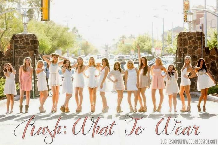 Go Greek: What to Wear during recruitment. A nice quick article to share with a friend who might be participating in formal recruitment this fall.