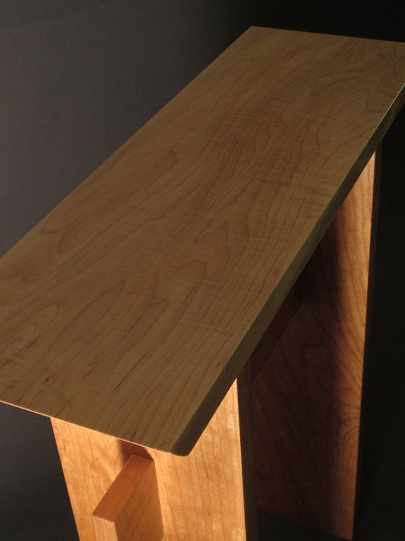 Small Console Table for Front Door: Mid by MokuzaiFurniture