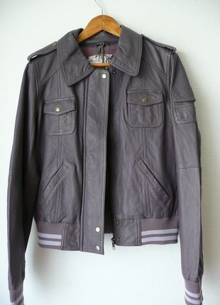 À vendre sur #vintedfrance ! http://www.vinted.fr/mode-femmes/teddy/24339048-blouson-teddy-femme-en-cuir-violet-i-code-by-ikks