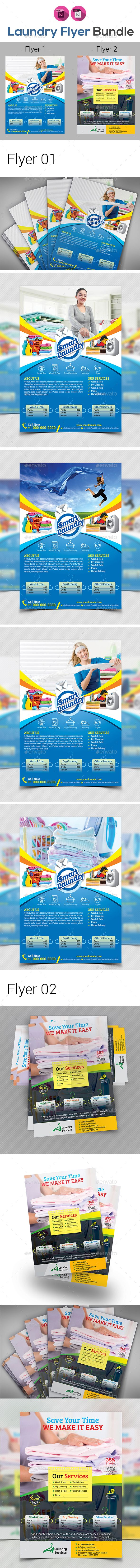 Laundry & Dry Cleaning Services #Flyer - Commerce Flyers Download here: https://graphicriver.net/item/laundry-dry-cleaning-services-flyer/19753050?ref=alena994