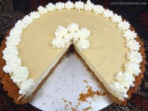 My Healthy Recipe for Eggnog Pie. This is so yummy I only got one small slice. Wheat free too!