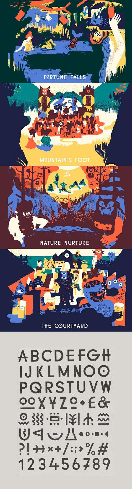 Green Man Festival by YCN Studio http://www.ycnstudio.com/ – Via Identity Designed