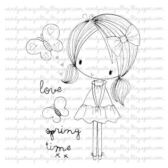 Primavera de amor por alldressedupstamps en Etsy
