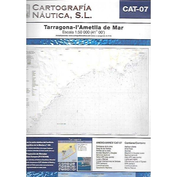 Tarragona-l'Ametlla de Mar [Document cartogràfic].  Figueres : Cartografía Náutica, 2007